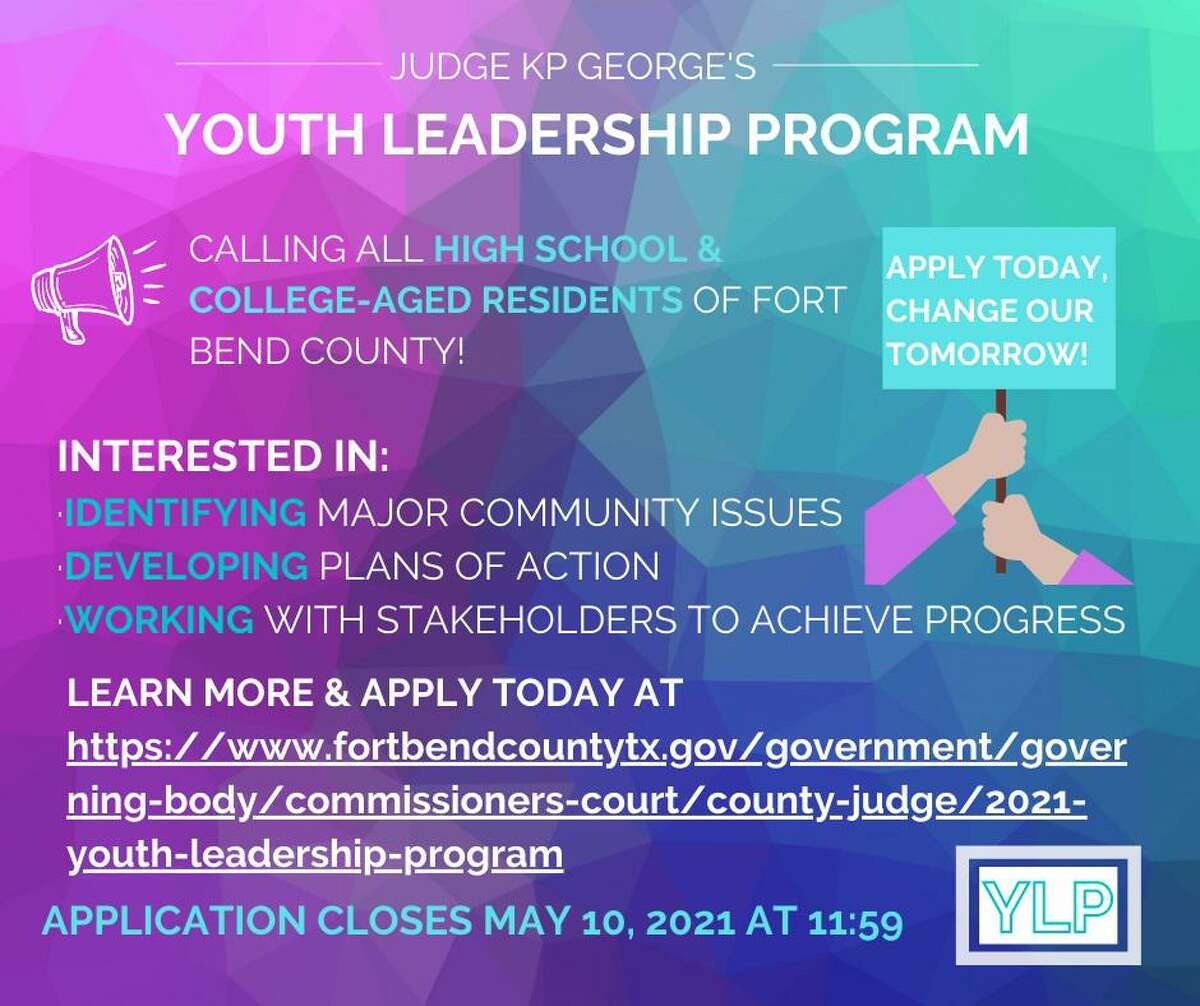 Fort Bend County Judge KP George's Youth Leadership Program is accepting applications.