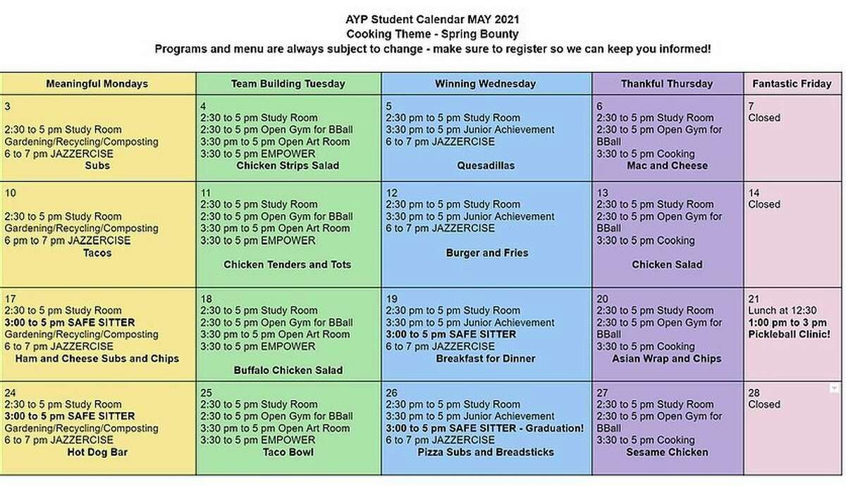 The Armory Youth Project has announced its May offerings for students in grades 6-12. (Courtesy graphic)