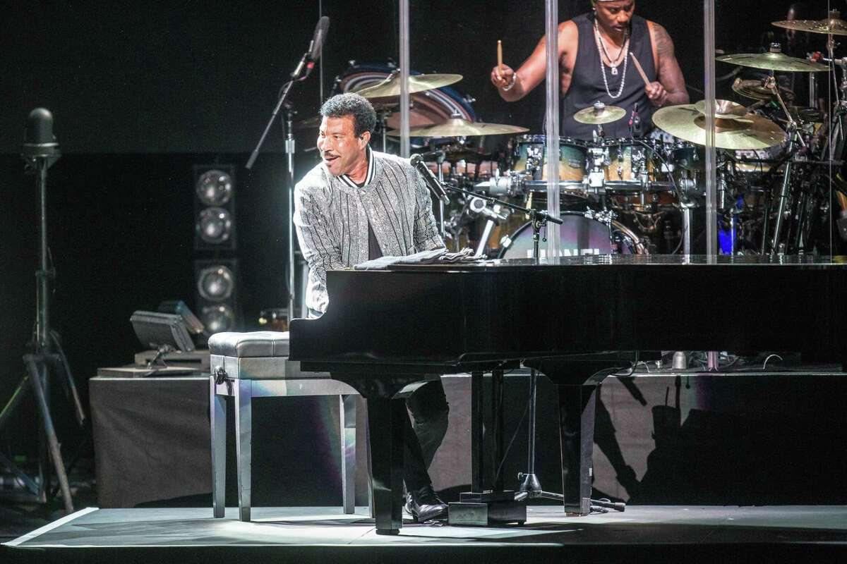 Lionel Richie performs at Smart Financial Centre at Sugar Land, which is now scheduling shows after a long break due to the pandemic.