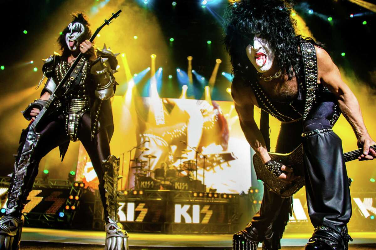 Kiss performs at Smart Financial Centre at Sugar Land, which is now scheduling shows after a long break due to the pandemic.