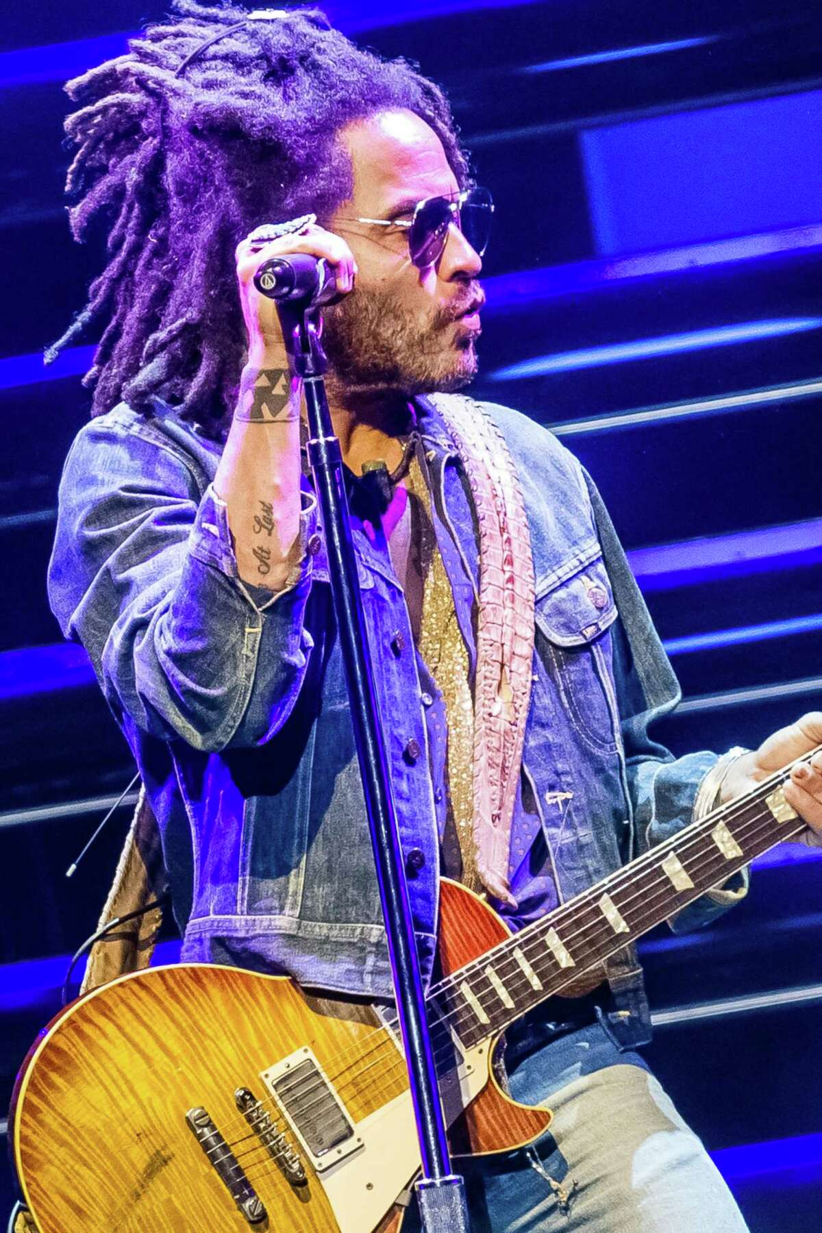 Lenny Kravitz performs at Smart Financial Centre at Sugar Land, which is now scheduling shows after a long break due to the pandemic.