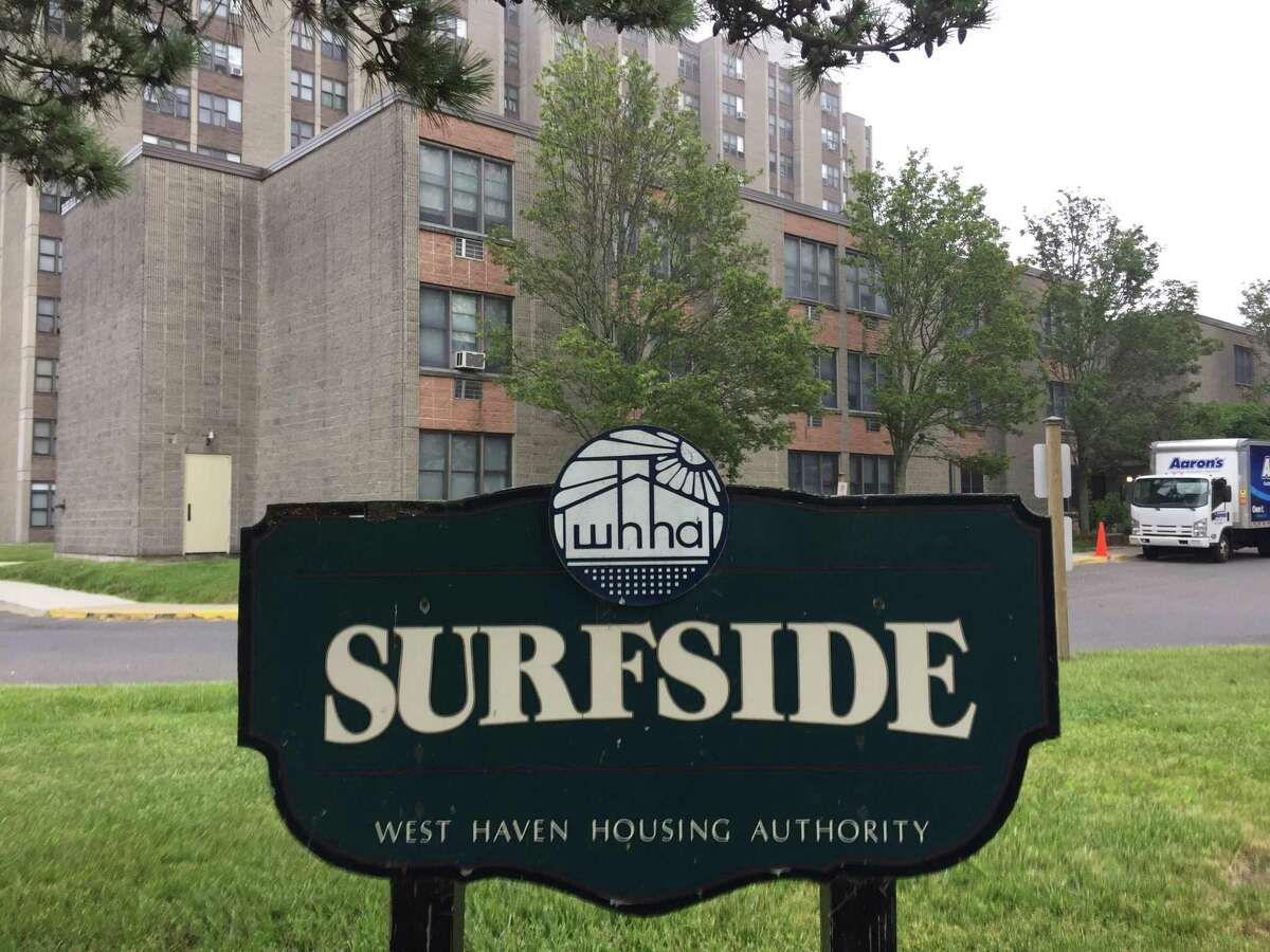 The Surfside 200 public housing complex, located on Oak Street in West Haven.
