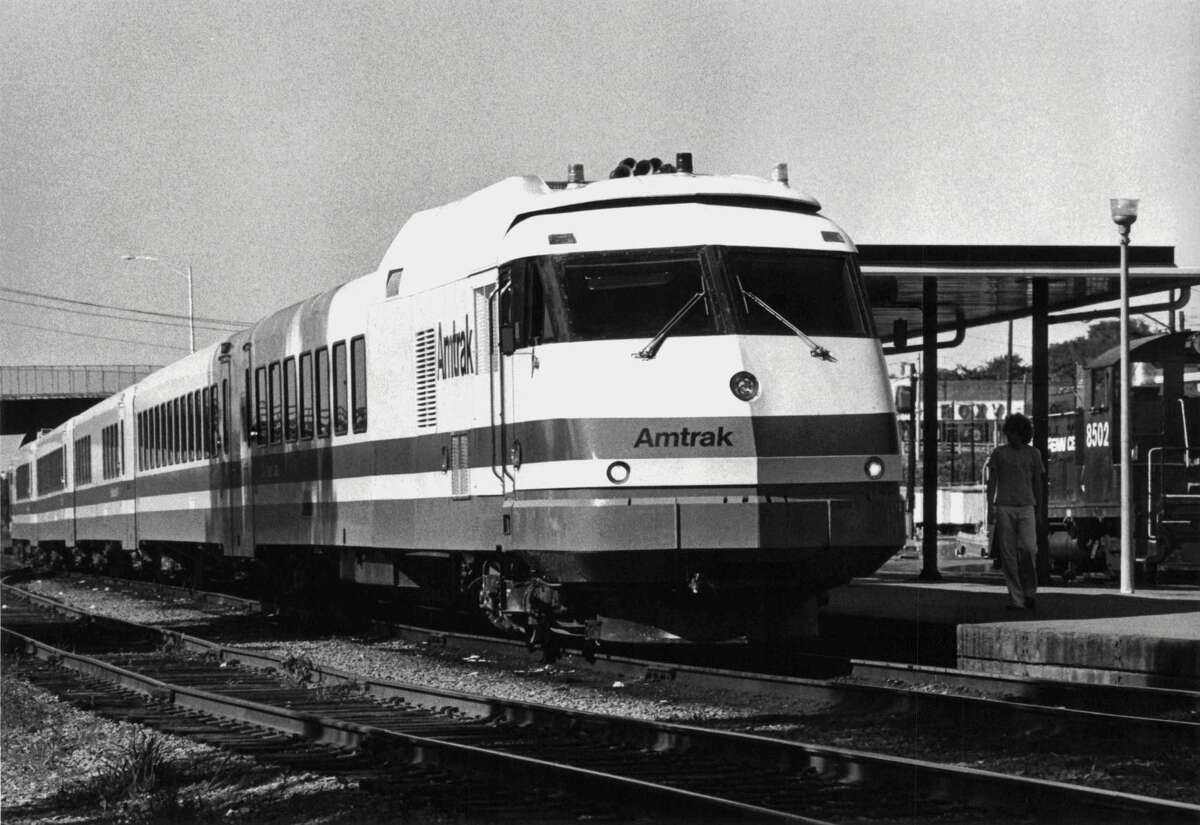Amtrak Turboliner Train at Rensselaer Station, New York. July 22, 1976 (Times Union Archive)