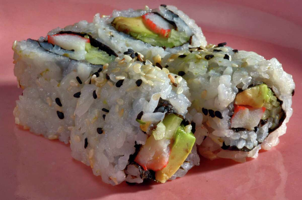 The California roll, invented in America, is not part of the Japanese sushi tradition but helped popularize sushi in the United States. (File photo.)