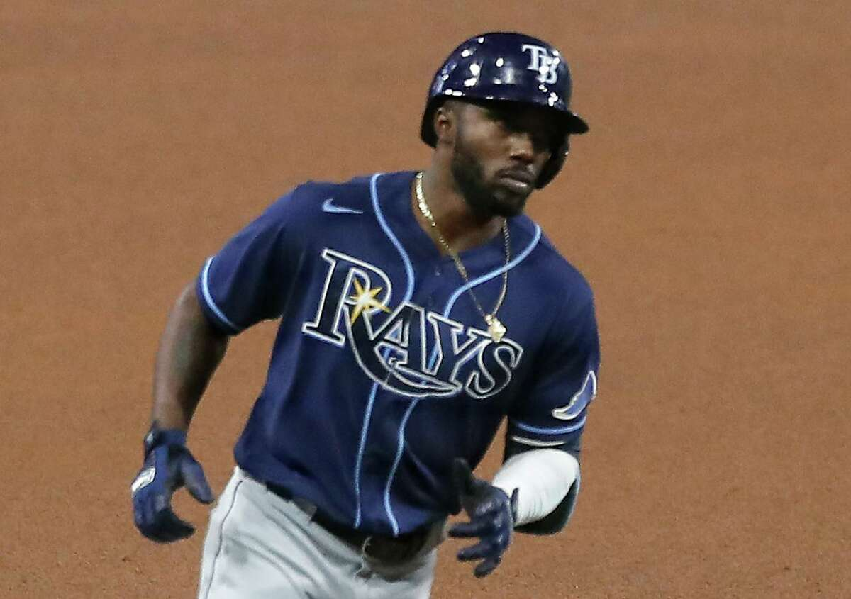 After homering an astounding 10 times in 20 postseason games in 2020, Rays outfielder Randy Arozarena has three long balls in this year's first month.