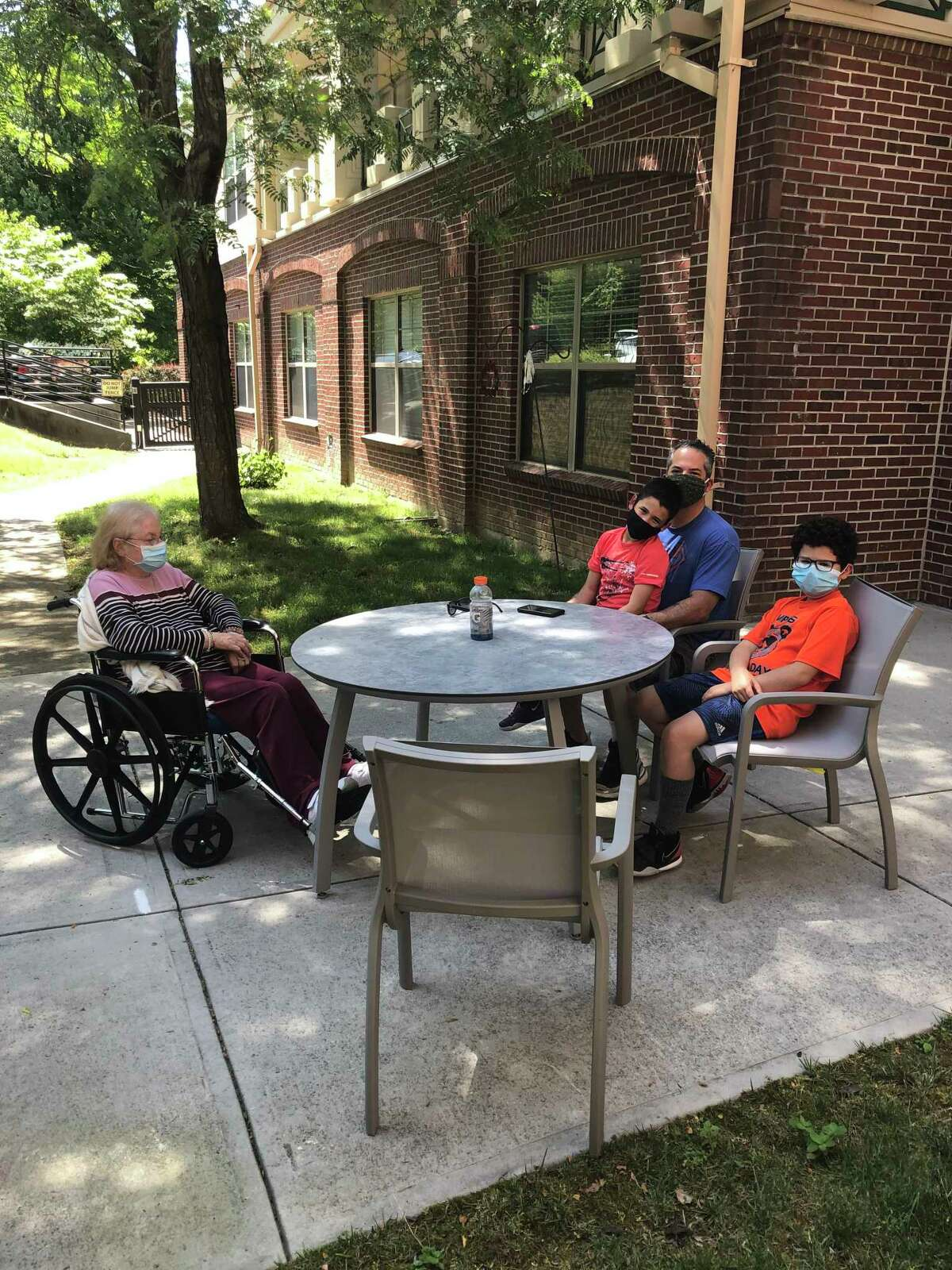 Residents at the Laurel Ridge Health Care Center in Ridgefield began welcoming back visitors and resuming communal activities after being hard hit by COVID-19.