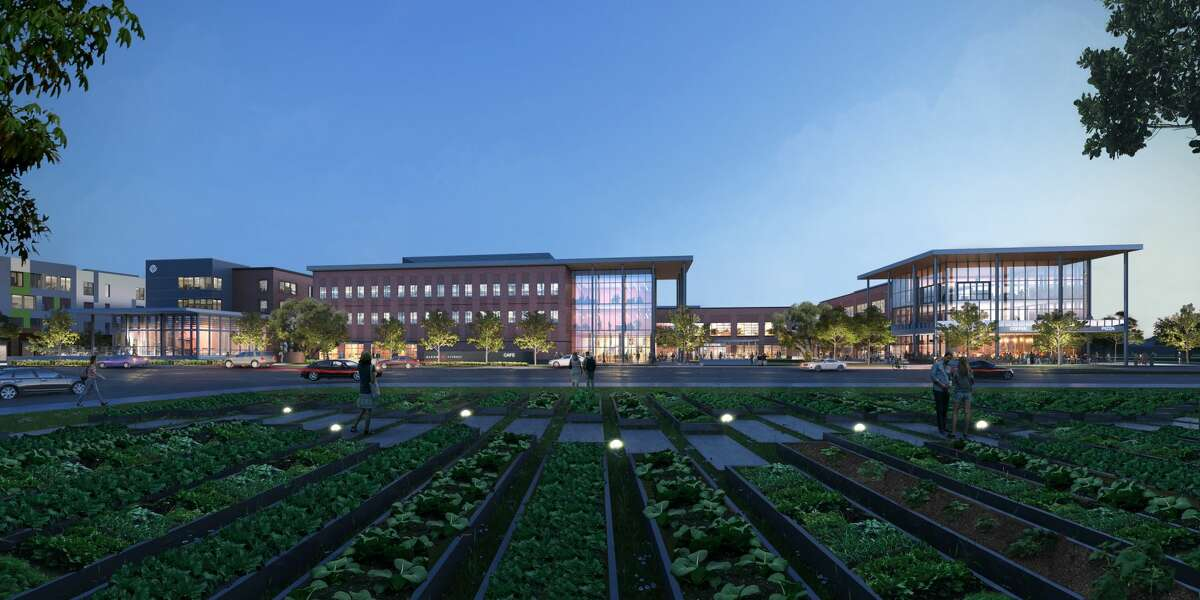 A rendering shows the Center for Pursuit new campus at 4400 Harrisburg Blvd.