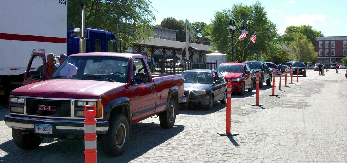 A steady stream of participants from the Greater New Milford area kept everyone busy during Sept. 15's hazardous waste collection day at Patriot's Way in New Milford in 2015. A Household Hazardous Waste Collection Day is scheduled for 9 a.m. to noon May 22 at the Falls Village Highway Garage on Railroad Street.