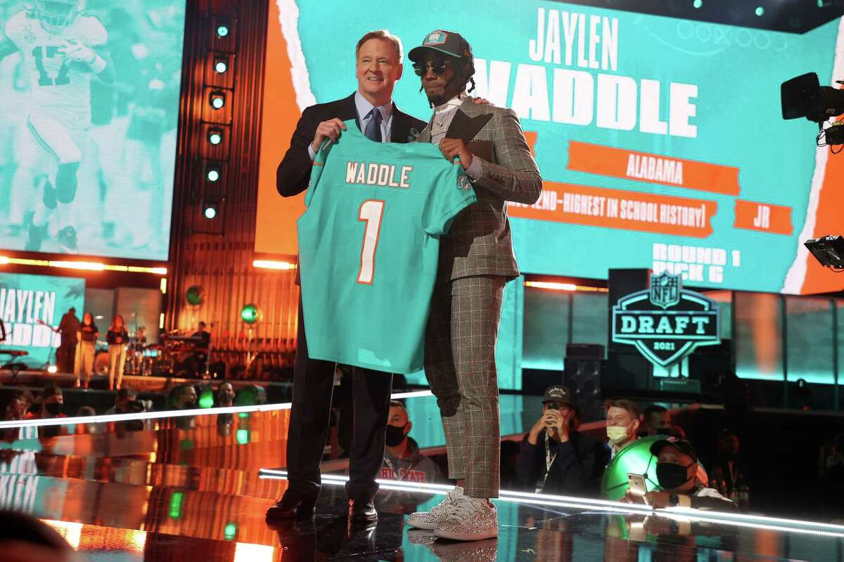 Jaylen Waddle, receiverHigh school: EpiscopalCollege: AlabamaDraft: Picked 6th overall by the Miami Dolphins in 2021
