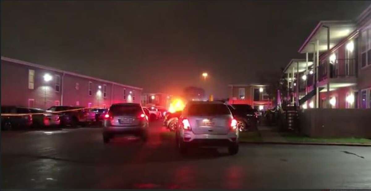 Police investigating a Thursday night homicide at an apartment in Houston's Greater East End.
