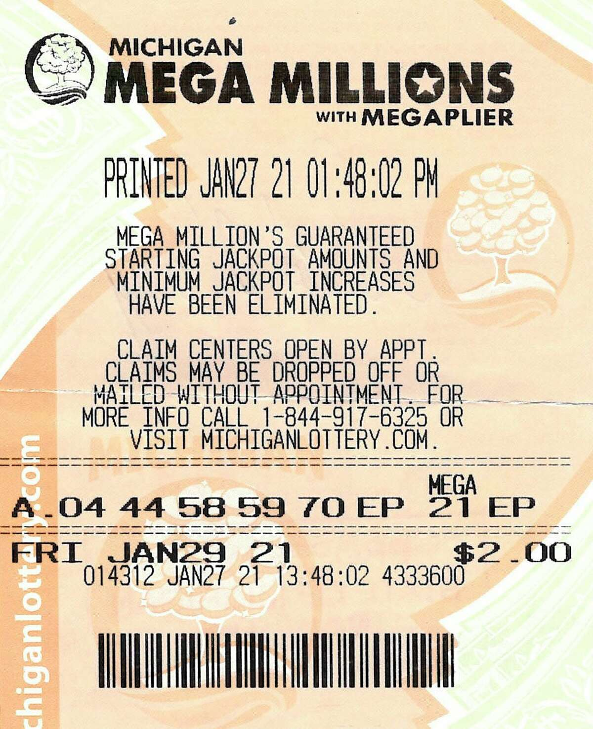 Gerald Carrig, of Irons, recentlyclaimed his $1 million prize after matching five white balls in the Jan. 29 Mega Millions drawing.(Courtesy/Michigan Lottery)