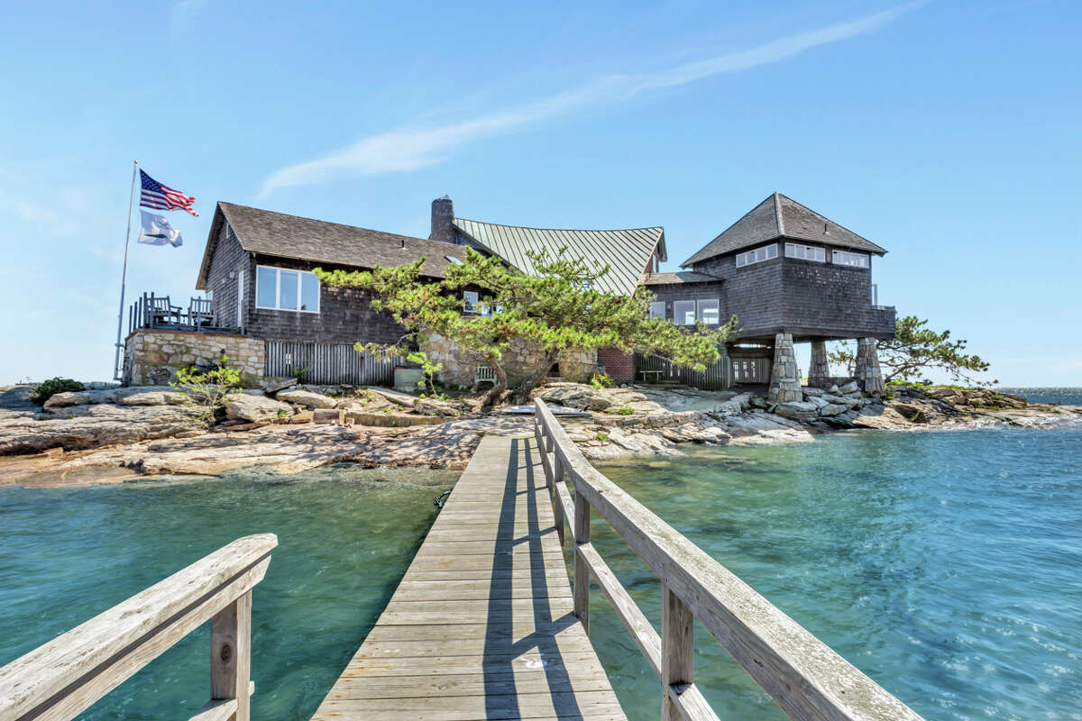 The home on Green Island in Branford, Conn., has been listed for $2.65 million. It sits on .77 acres of land with