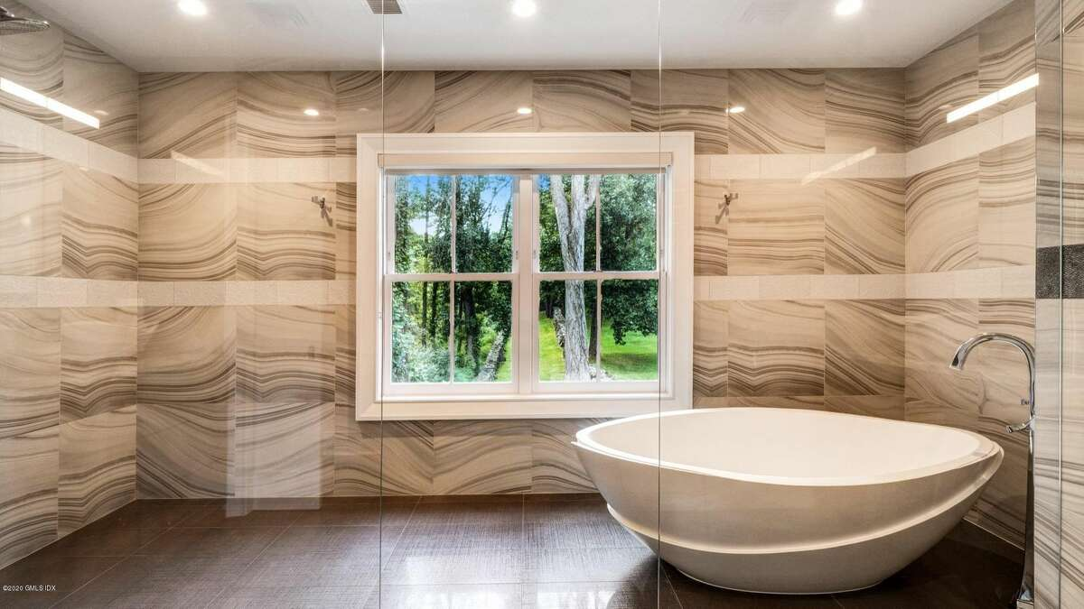 A wet room in a Connecticut house.  Wet rooms Georgopulo said the new holy grail of bathrooms in Connecticut is a