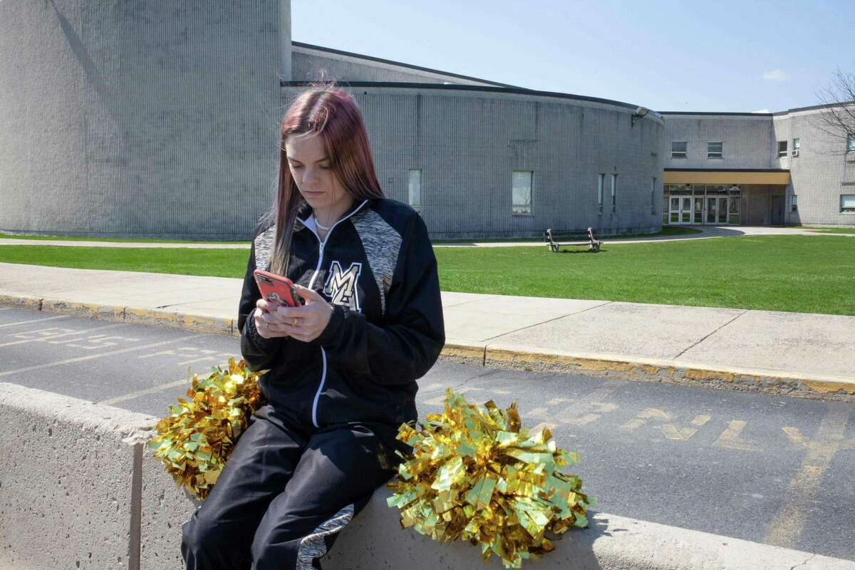 In this handout image courtesy of Danna Singer provided by ACLU (American Civil Liberties Union) shows Brandi Levy, a former cheerleader at Mahanoy Area High School in Mahanoy City, Pennsylvania. Levy got banished from her high school's cheerleading squad after making a social media post that included profanity against her highschool.