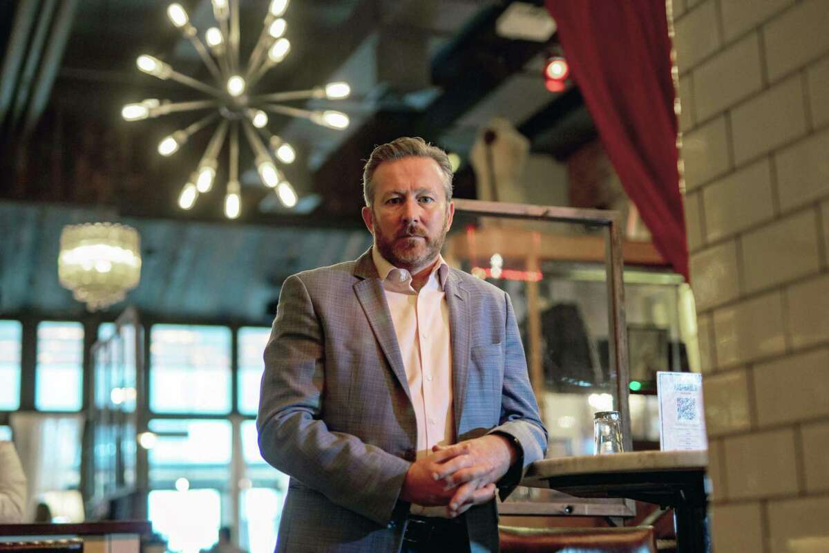 Mark Fox, president and founder of Fox Lifestyle Hospitality Group, at The Rag Trader restaurant in New York on April, 29, 2021.