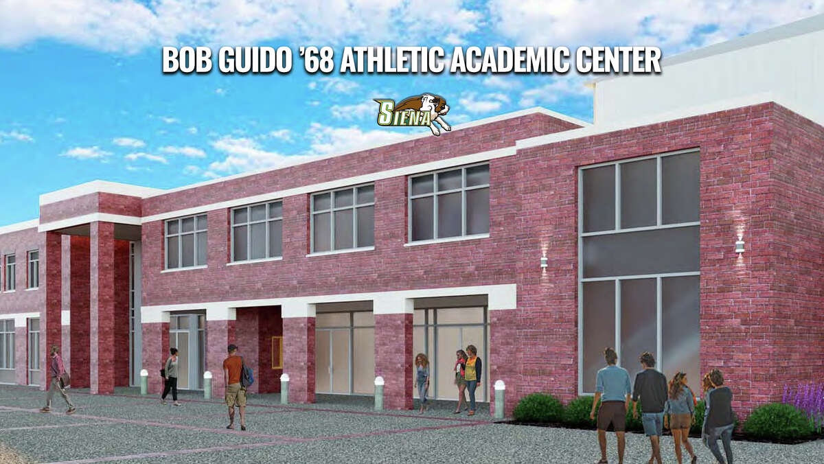 An artist's rendering of Siena's planned Bob Guido '68 Athletic Academic Center. Construction is due to begin in late summer or early fall. (Siena College)