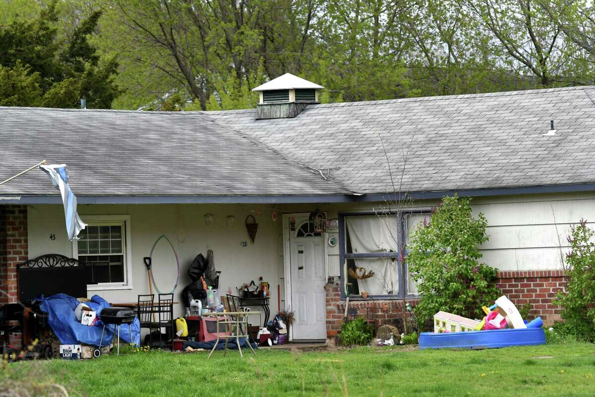 Apartments at 43 Allen Drive on Friday, April 30, 2021, in Saratoga Springs, N.Y. (Will Waldron/Times Union)