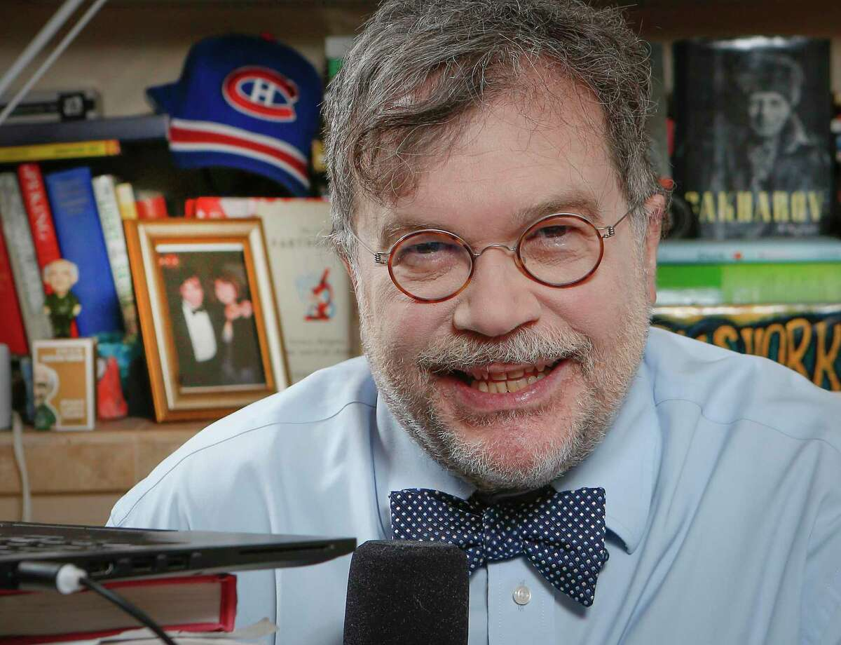 Vaccine researcher Peter J. Hotez, MD, PhD in his home Thursday, Feb. 25, 2021, in Houston.