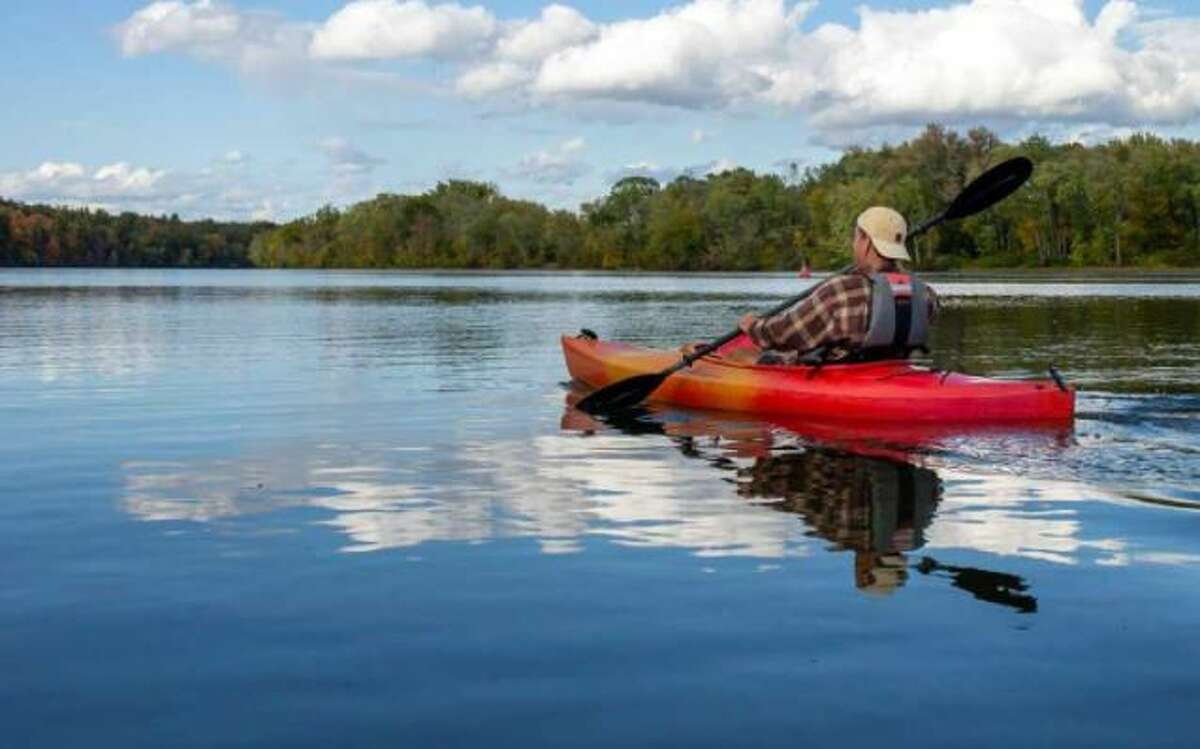 Campers at the Champlain Canal glamping site can kayak the canal.