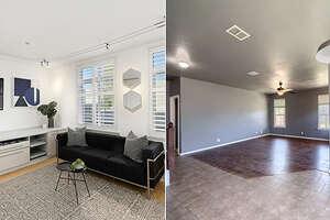 Left is the San Francisco studio. Right is the 5 bedrooms San Antonio home.