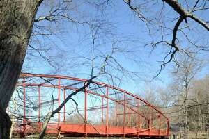 A view of Lovers Leap Bridge in New Milford
