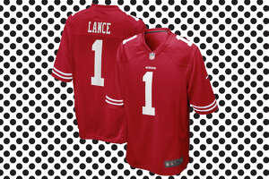 Trey Lance's official San Francisco 49ers jersey  for sale at NFL Shop for $119.99.