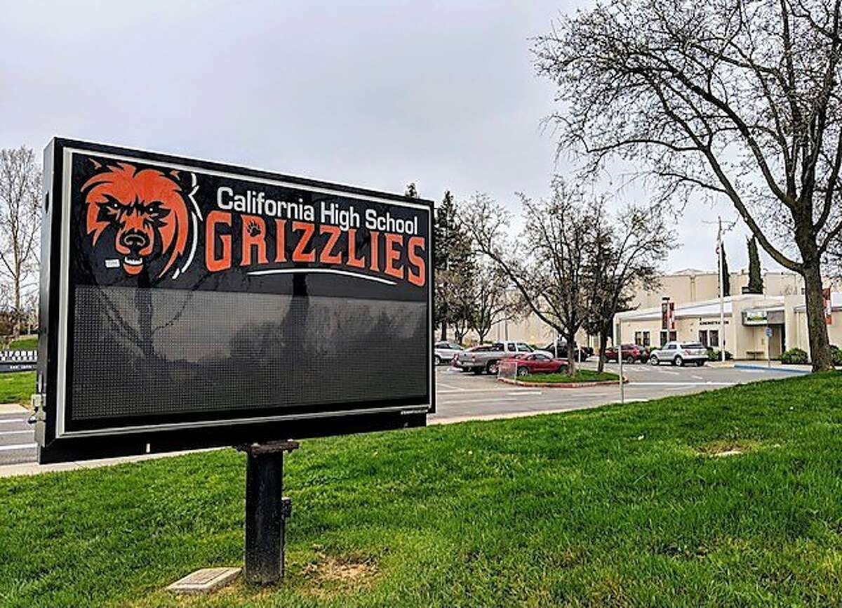 California High School in San Ramon, California. Racist and homophobic stickers were found throughout the school last month according to a letter sent to parents on Thursday.