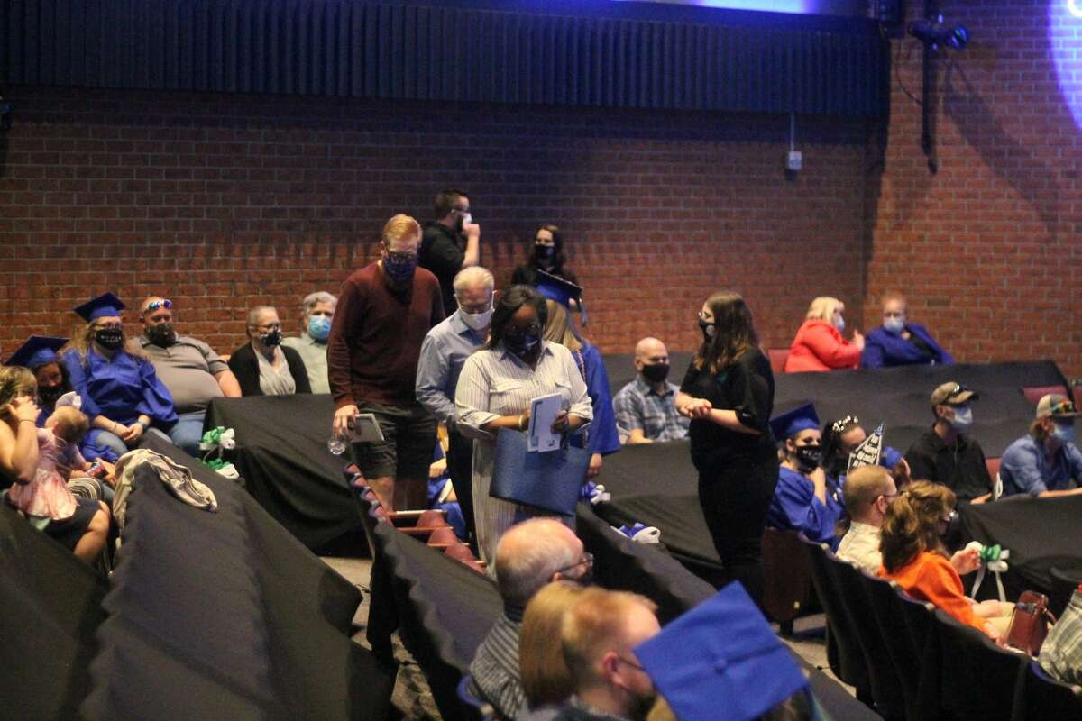 Masks, assigned seating and social distancing were just some of the safety protocols in place which allowed West Shore Community College to hold in-person commencement ceremonies.