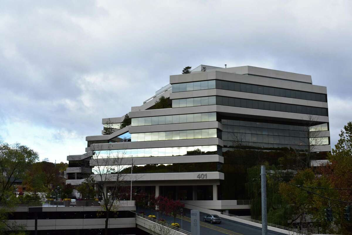 The 401 Merritt 7 headquarters building of Frontier Communications in Norwalk, Conn., on Oct. 28, 2016, two years after the company assumed AT&T telephone, broadband and TV services in Connecticut.