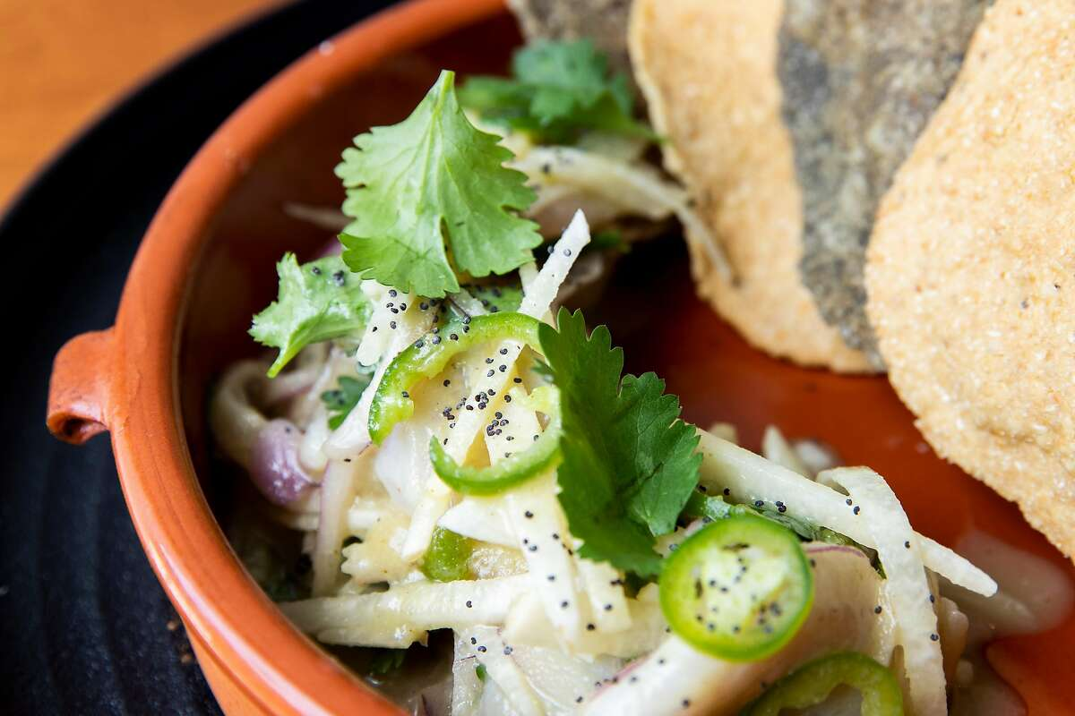 The campache aguachile at Otra in the Haight-Ashbury neighborhood of S.F.