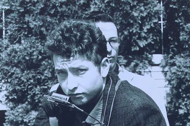 Bob Dylan, then 19, performing at the 1961 Indian Neck Folk Festival in Branford. The photo was taken by Stephen H. Fenerjian, a then-27-year-old Cambridge, Mass., amateur photographer. Fernerjian now is 87 and living in Sharon, Mass.