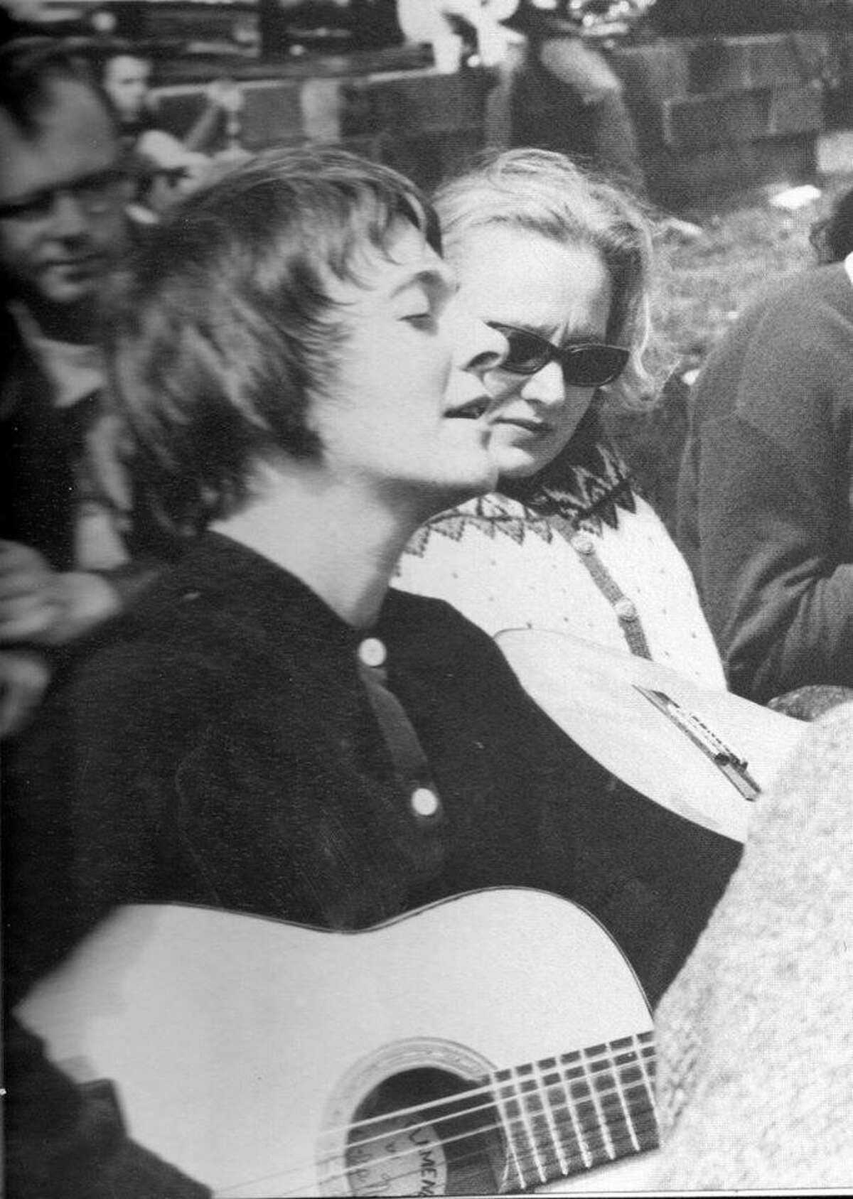 Judy Collins, then five days past her 22nd birthday, at the 1961 Indian Neck Folk Festival in Branford on May 6, 1961.The photo was taken by Stephen H. Fenerjian, a then-27-year-old Cambridge, Mass., photographer. Fernerjian now is 87 and living in Sharon, Mass.