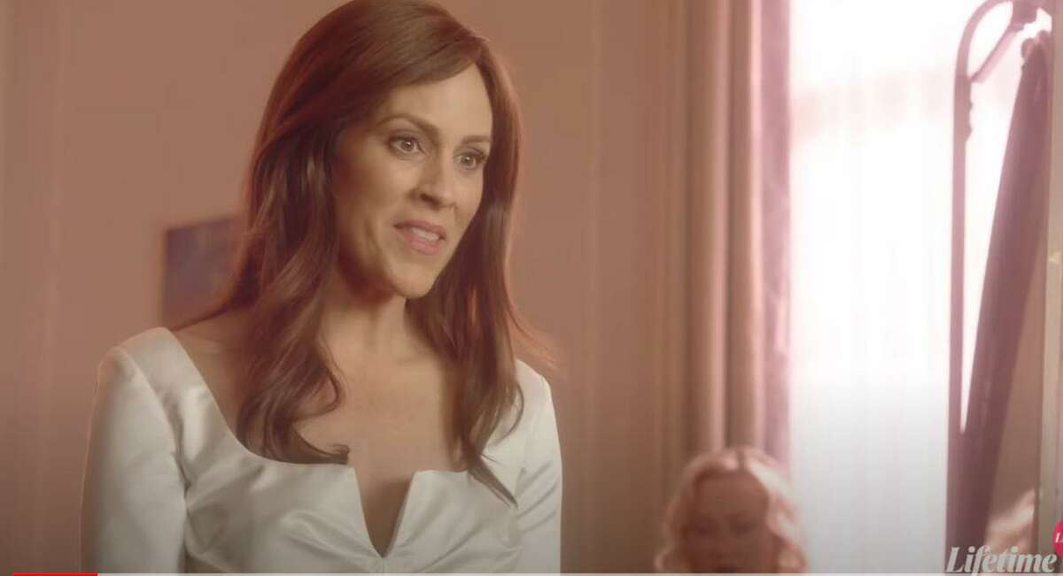 """Annabeth Gish, portraying Jennifer Dulos, in the Lifetime Television movie, """"Gone Mom: The Disappearance of Jennifer Dulos."""""""