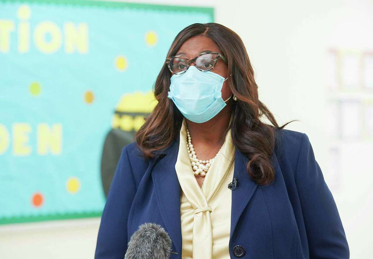Houston ISD Interim Superintendent Grenita Lathan, pictured in 2020, had a special education department rife with training issues in 2018-19, her first full year in the position in 2018-19, an internal audit recently found.