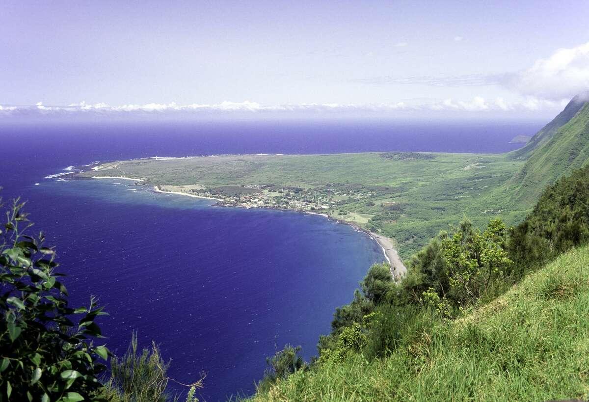 The Kalaupapa peninsula on Hawaii's Molokai island is not easily accessible.