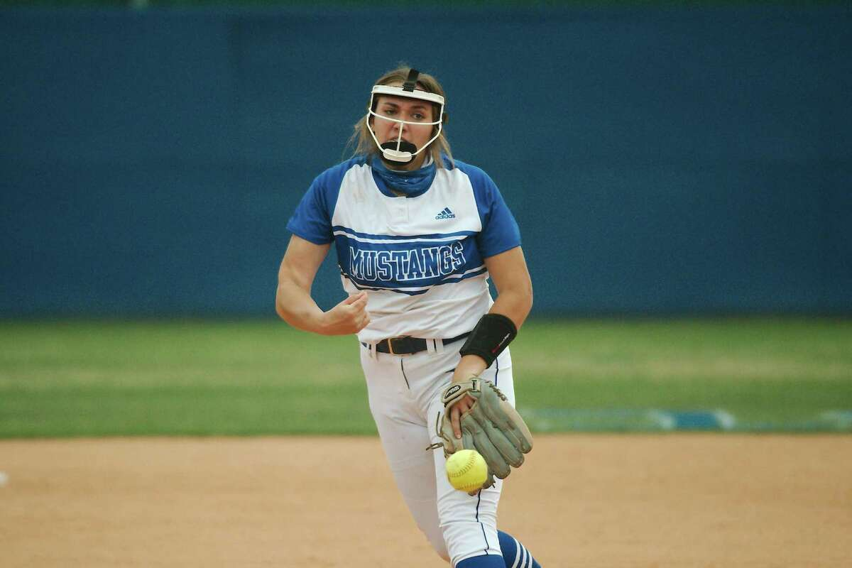 Friendswood's Janelle Wilson shut out Port Neches-Groves Friday to help lead the Lady Mustangs to a sweep of their Class 5A bi-district softball series.