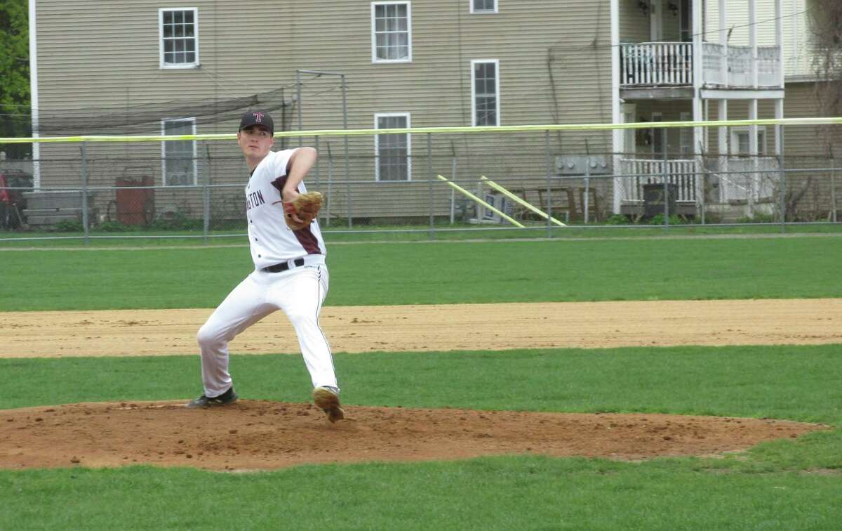Torrington starter Ben Smith held Watertown to one hit before giving way to reliever Joe DiPippo in a big Raider win over Watertown Friday afternoon at Fuessenich Park.