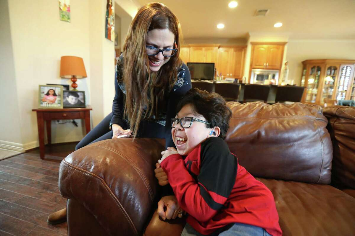 """""""He keeps me going, he keeps my spirit up, he makes me smile"""" Maria ElenaCardenas said about her son Sergio Wednesday, Jan. 30, 2019, in Katy. Her husband, GustavoCardenas, is part of the """"Citgo 6,"""" a group of six former Citgo executives who were arrested and detained on alleged corruption charges while on a business trip to Venezuela in November 2017."""