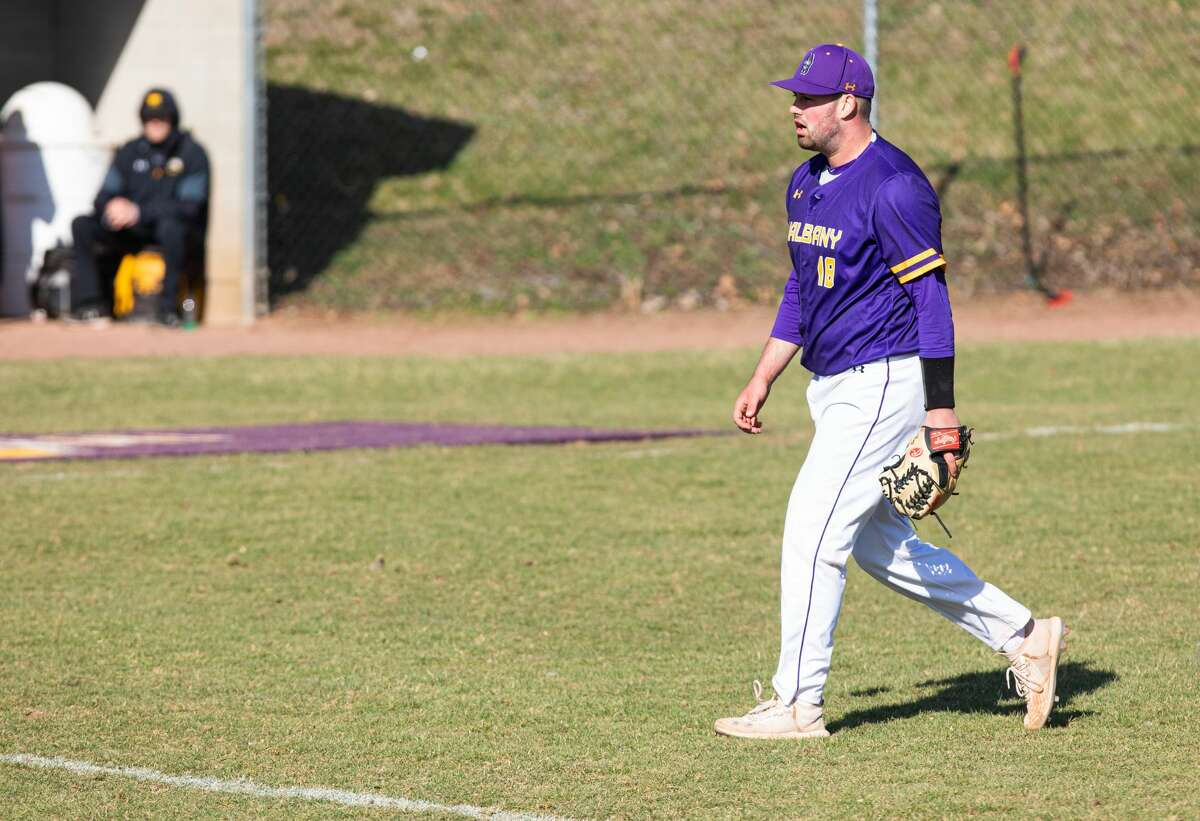 Anthony Germinerio of the UAlbany baseball team.