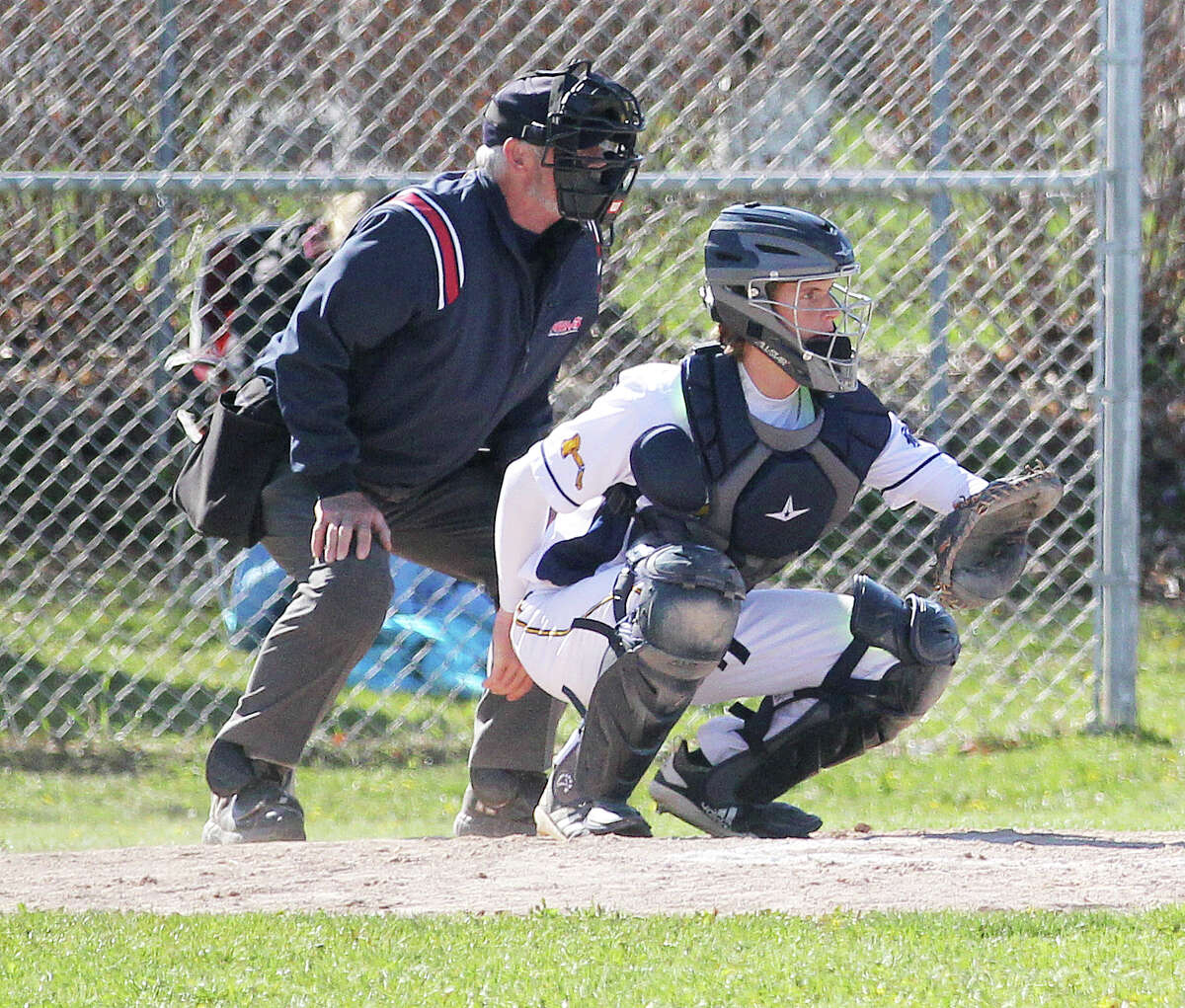 The Bad Axe baseball team topped visiting Sandusky, 8-3, on Thursday afternoon before dropping the second game of a doubleheader by the score of 5-2.