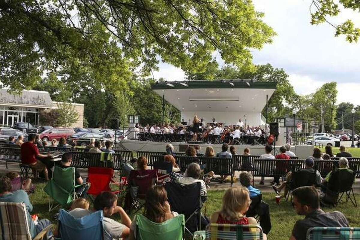 In this file photo from 2018, the Edwardsville Symphony Orchestra performs during an Arts in the Park event at City Park.