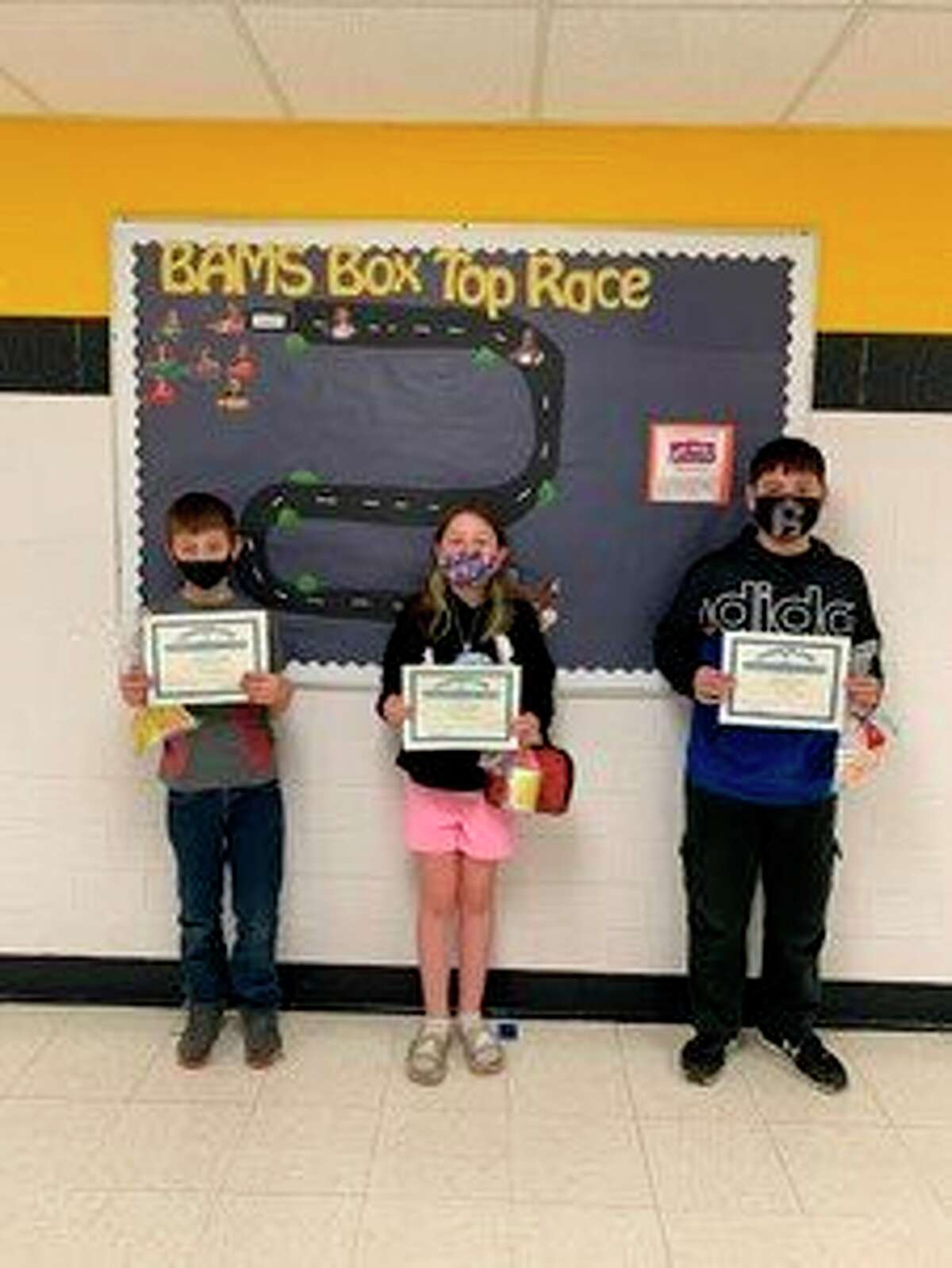 Bad Axe Middle Schoolannounces their April Citizens of the Month. Pictured are grade 4 Alexander Henry, grade 5 Olivia Cooper and grade 6 Quentin Eisinger. (Submitted Photo)
