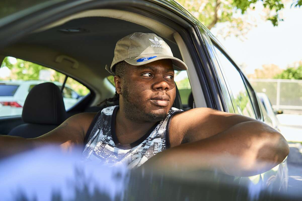 """Michael Lang says he moved to Las Vegas after being traumatized when Berkeley police pulled a gun on him after mistaking him for a carjacking suspect in a similar car. """"I can't even describe the feeling,"""" he says."""