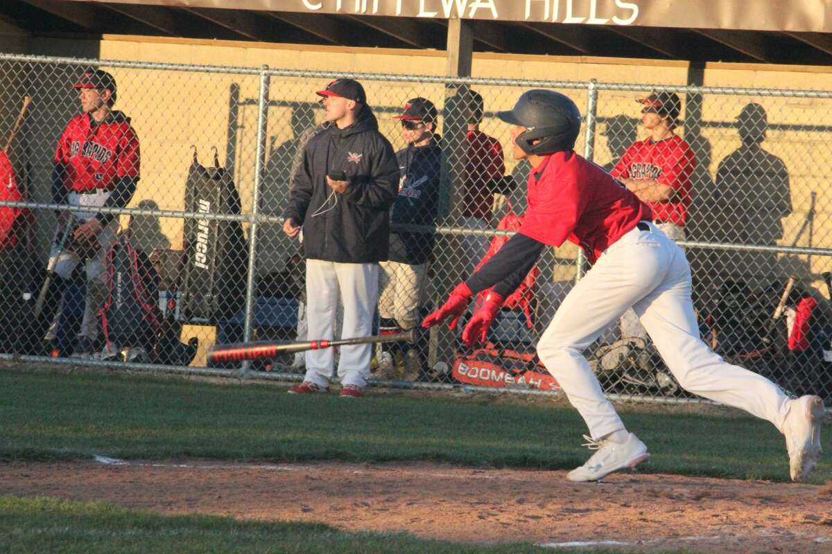 Chippewa Hills and Big Rapids went toe-to-toe for a baseball twinbill split on Friday