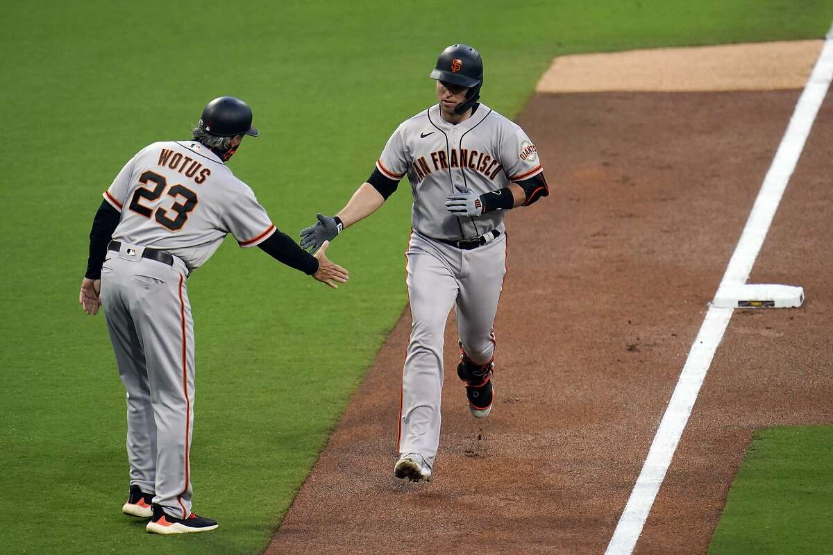 Buster Posey and the Giants will finish a series at San Diego with a game that begins at 1 p.m. Sunday. (NBCSBA)