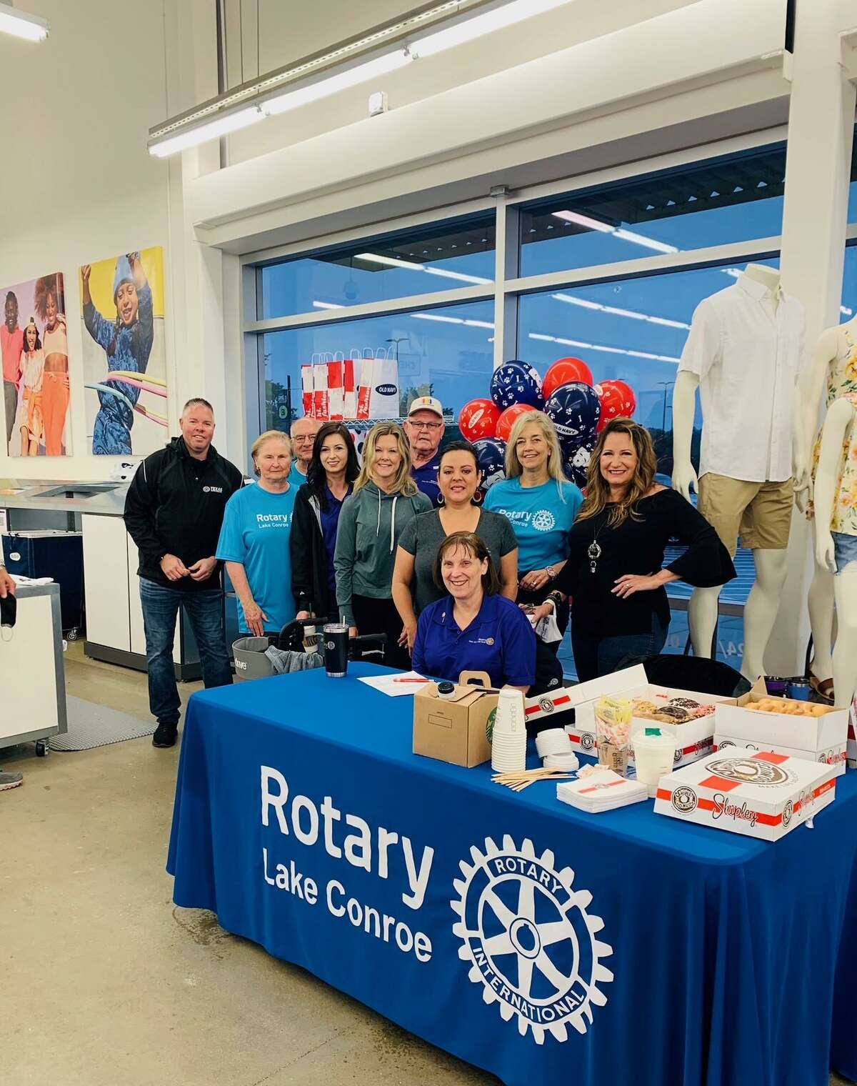 Members of the Rotary Club of Lake Conroe participated in the