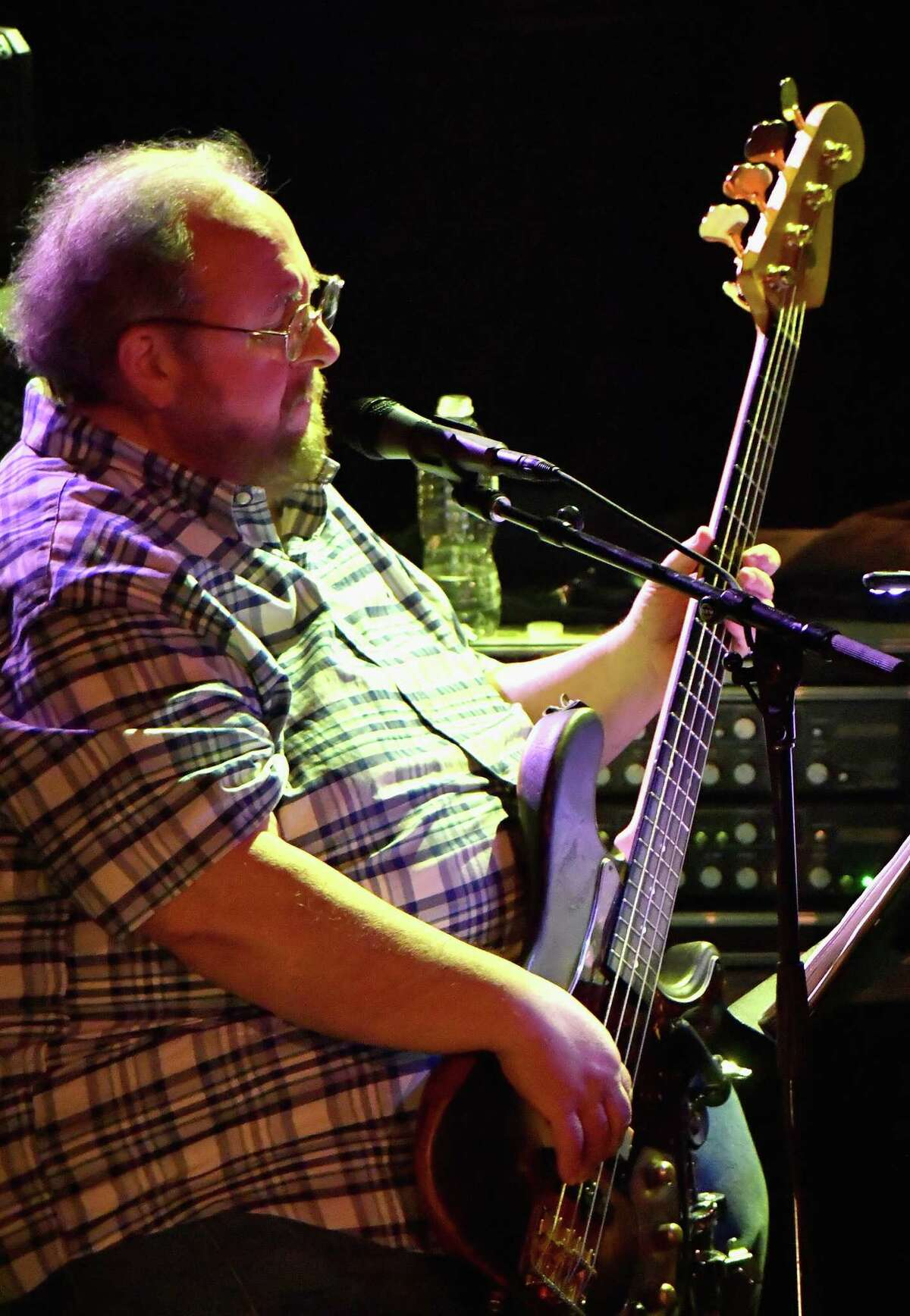 Bassist Tony Markellis performs onstage in the Trey Anastasio Trio in Concert at the Civic Theatre on April 28, 2018 in New Orleans. The Saratoga Springs guitarist died April 29, 2021.