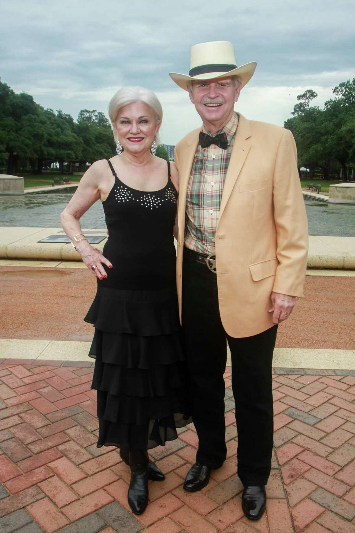 Jo and Jim Furr at Evening in the Park, hosted by the Hermann Park Conservancy, in Houston on April 30, 2021.