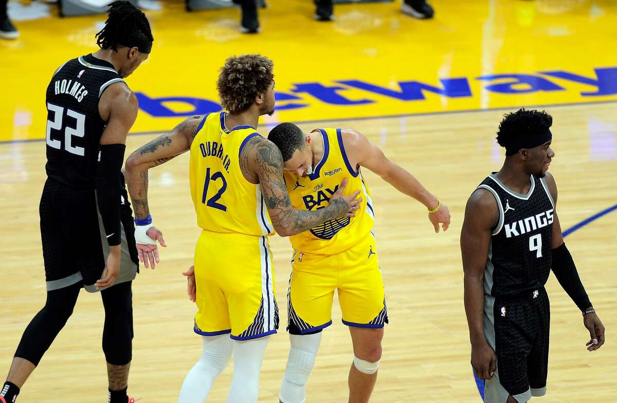 Kelly Oubre Jr. (12), Stephen Curry and the Warriors would be a draw the NBA covets in the playoffs.