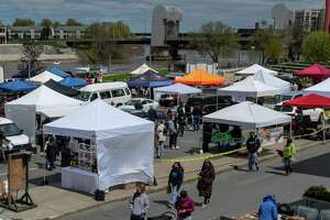 The Troy Waterfront Farmers Market is back at Riverfront Park on Saturday, May 1, 2021 (Jim Franco/Special to the Times Union)